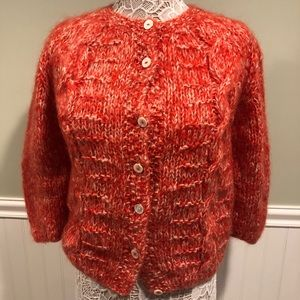 Vintage 50s Macys Hand Knit Mohair Sweater, Italy